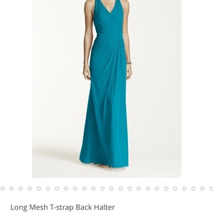 David's Bridal Oasis Blue Dress