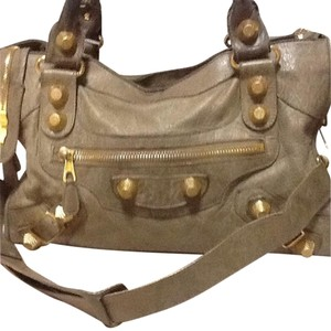 Balenciaga Satchel in Taupe With Olive Tone