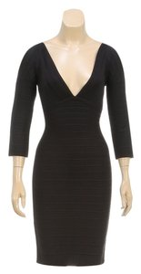 Herve Leger short dress Black on Tradesy