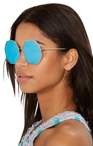 Quay Australia Quay Kiss & Tell Mirrored Octagon Sunglasses, 60mm