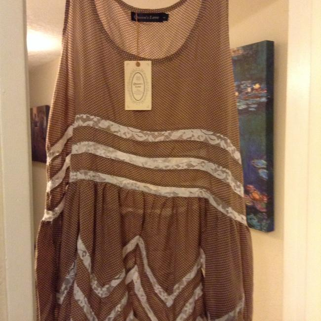 Queens Love short dress Brown/white on Tradesy