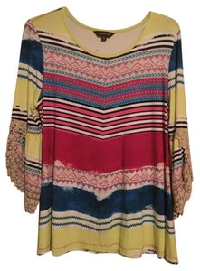 Multiples Petite Top Multicolored