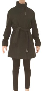 Armani Collezioni Coat Dark Green Wool/Kashmir Coat