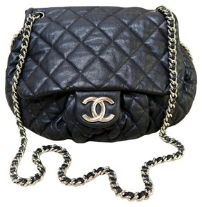 Chanel Large Chain Around Satchel in black