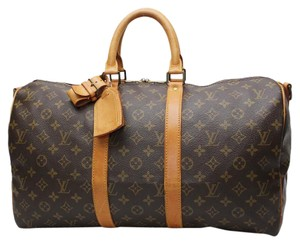 Louis Vuitton Keepall 45 Lv Brown Travel Bag
