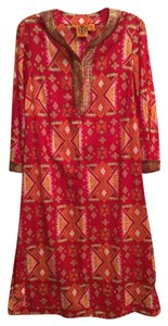Tory Burch short dress Multicolor Cotton Beaded on Tradesy