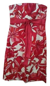 Giorgio Fiorlini short dress Pink Floral on Tradesy