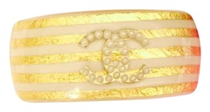 Chanel Gold and Pink Pearl Cuff 2012 Cruise Collection Cuff