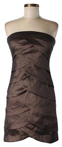 Romeo & Juliet Couture Strapless Tiered Sheath Dress