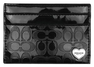 Coach Nwt's Coach Perforated Embossed Liquid Gloss Card Case