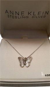 Anne Klein Sterling Silver Butterfly Necklace