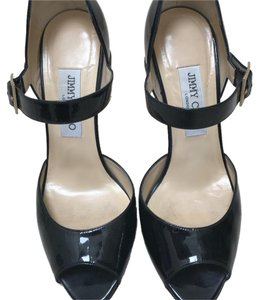 Jimmy Choo Patent Mary Jane 8 Black Pumps