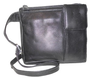 Picard Leather black Messenger Bag
