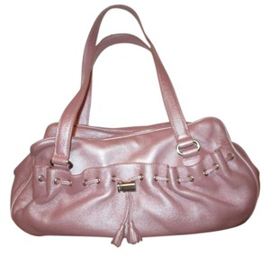 Via Spiga Leather Satchel in pink