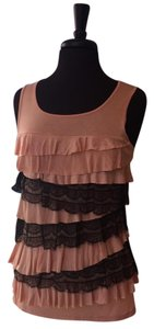 Ann Taylor Top Black& Pink