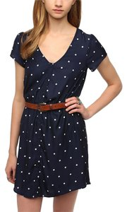 Kimchi Blue short dress Navy Blue/White Polka Dots on Tradesy
