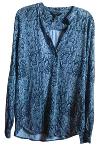 BCBGMAXAZRIA Top blue with print