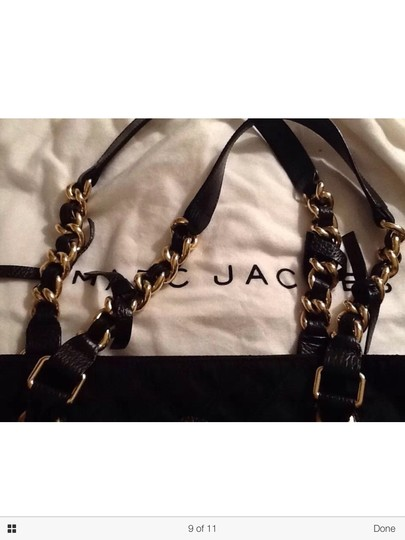 Marc Jacobs Quilted Tote Chain Gold Shoulder Bag