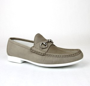 Gucci Mens Suede Horsebit Loafer Moccasin 337060 Bho00 Size 9/us 10