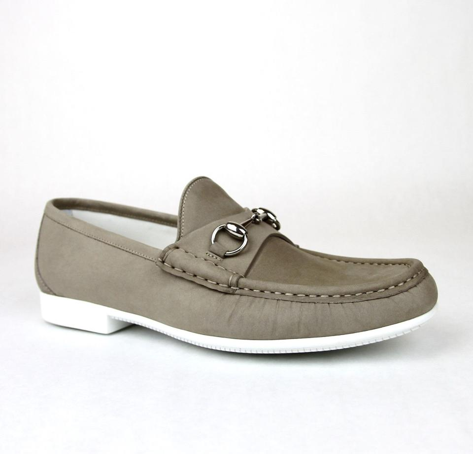 86062ce7255 Gucci Dark Beige Horsebit Mens Suede Loafer Moccasin 337060 Bho00 Size  13 Us 14 Shoes ...