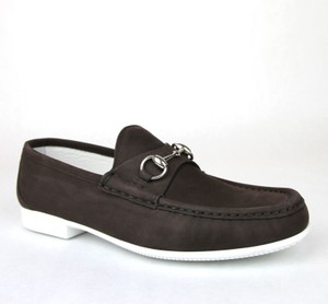 631666b3c1f Gucci Dark Brown Horsebit Men s Suede Loafer Moccasin 337060 Bho00 Size 7.5  Us 8.5 Shoes