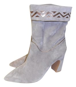 Jeffrey Campbell Mid-calf Suede New Grey Boots