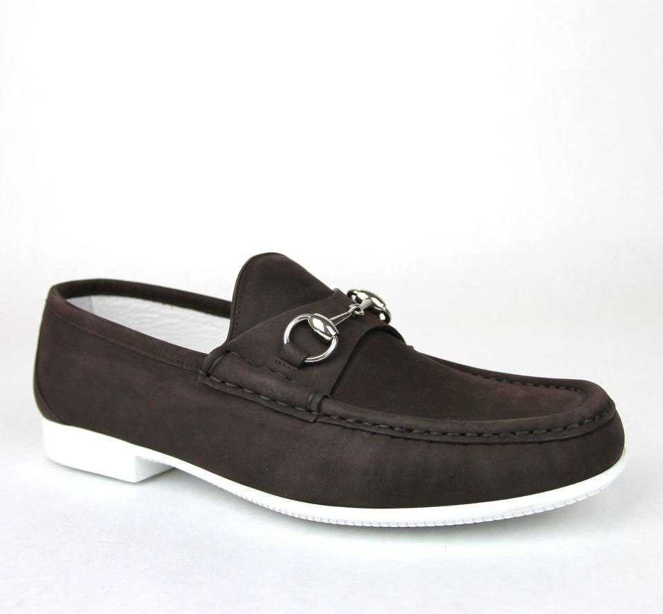 150a7b3107a Gucci Dark Brown Horsebit Men s Suede Loafer Moccasin 337060 Bho00 Size 11 Us  12 Shoes ...