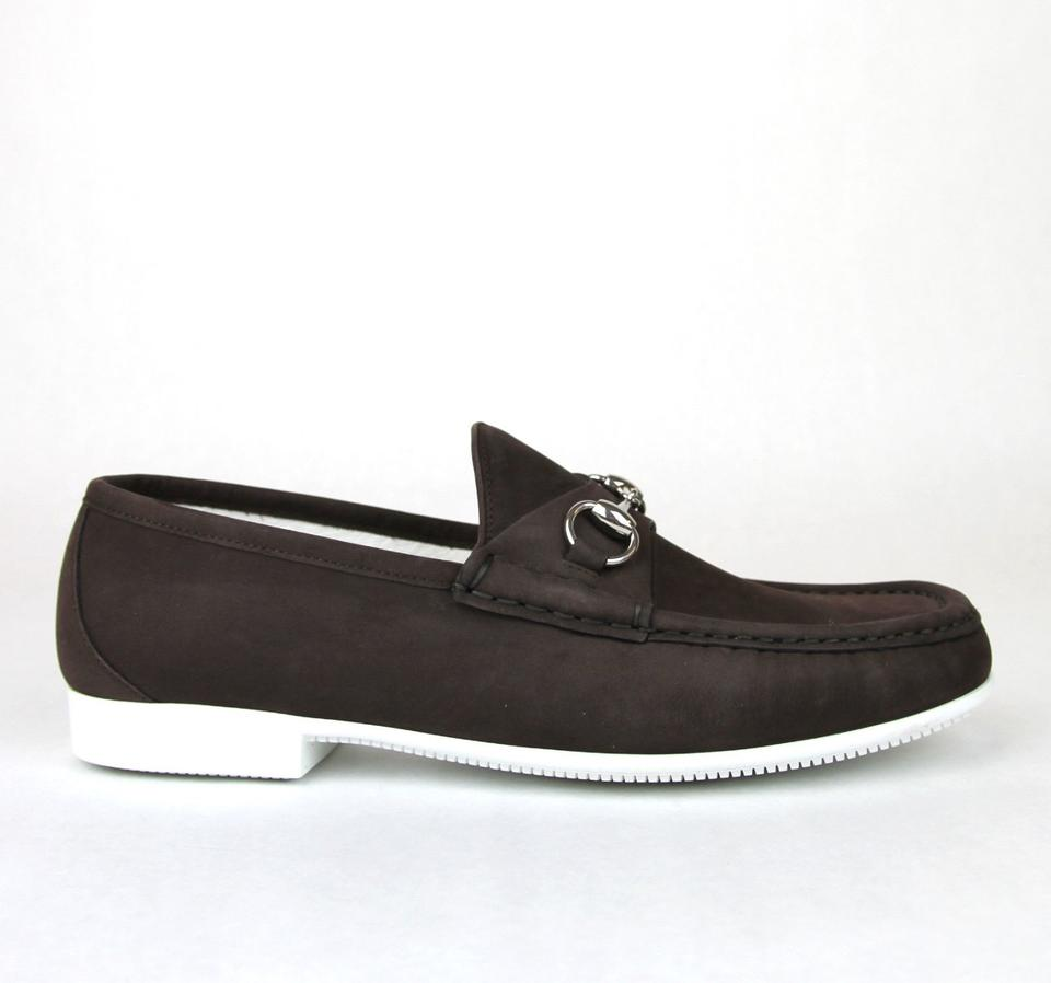 b2c282c6873 Gucci Dark Brown Horsebit Men s Suede Loafer Moccasin 337060 Bho00 Size 11 Us  12 Shoes. 12345678910
