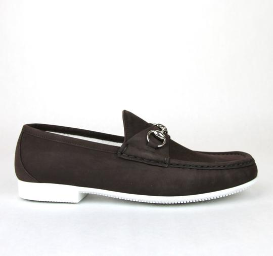 64700e51471 Gucci Dark Brown Horsebit Men s Suede Loafer Moccasin 337060 Bho00 Size  12.5 Us 13.5 Shoes