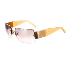 Chanel Orange Chanel jewel Strass CC logo shield sunglasses