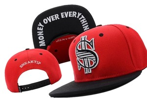 """New Era NWT Sneaktip Red/Blk """"Money Over Everything"""" Adjustable Snapback Cap"""