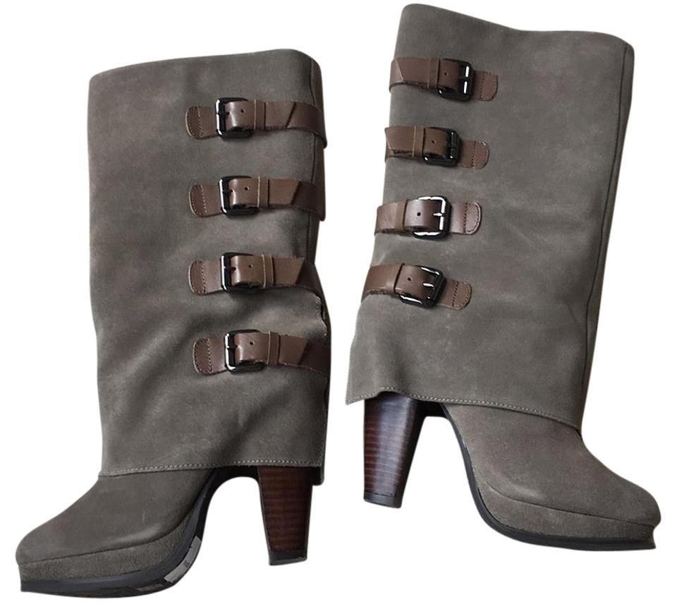 WOMENS reputation REPORT Gray Boots/Booties Long-term reputation WOMENS beefb5