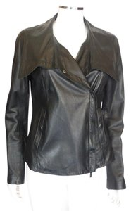 Vince Leather Wlg Collar Sm Motorcycle Jacket