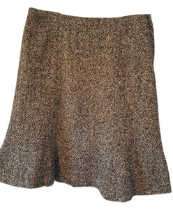 Gap Pencil Flare Skirt Black And White Tweed