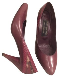 Stuart Weitzman Leather Snakeskin Formal Boutique Light Plum (purple) Black Ivory (Multi) Pumps