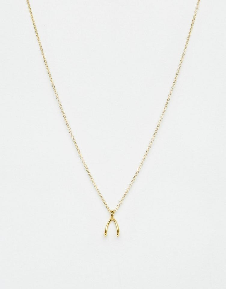 6bf19a23b Dogeared Dogeared Gold Wishbone Necklace Image 2. 123