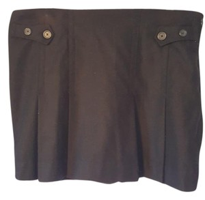 Gap Pleated Mini Skirt Black