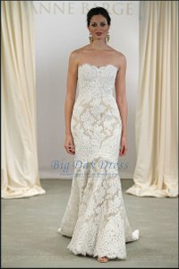 Anne Barge Anne Barge Lace Mermaid Gown Wedding Dress