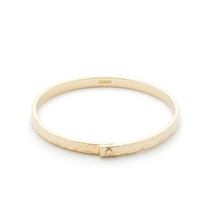 J Crew Gold Hammered Hinged Cuff Bracelet