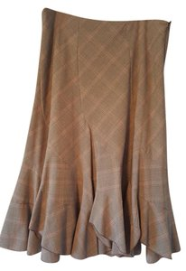 Sunny Leigh Brown Flare Plaid Skirt Brown Plaid