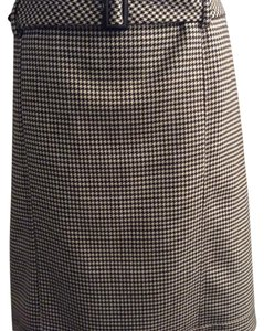 Talbots Skirt Houndstooth Plaid
