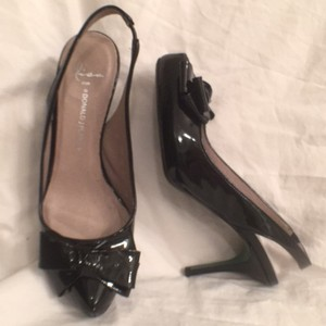 Donald J. Pliner Patent Leather Pumps Black Platforms