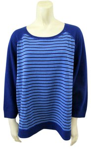 Chico's Nwt Striped Comfortable Sweatshirt