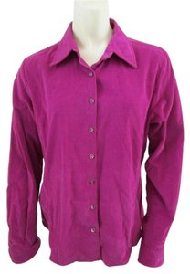 Façonnable Cord Corduroy Longsleeve Button Down Shirt Purple