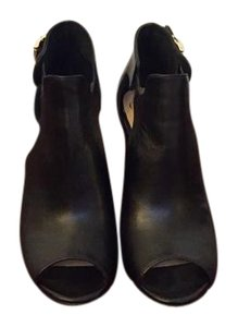Vince Camuto Cutout Leather Black Boots