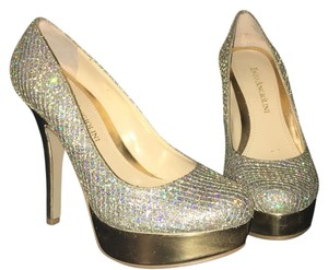 Enzo Angiolini Holographic glitter / gold Platforms