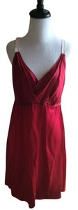 Graham & Spencer short dress Burgundy Silk Cami Sleeveless on Tradesy