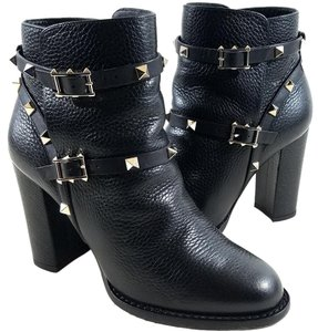 Valentino Ankle Adjustable Straps Black Boots
