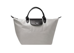 Longchamp Satchel Handbag Tote in grey