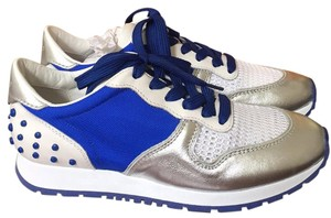 Tod's White/blue/silver Athletic